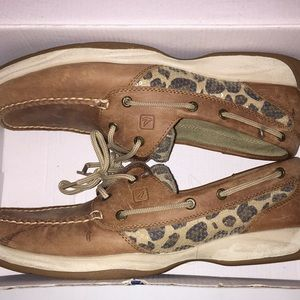 Leopard Print Sperry's